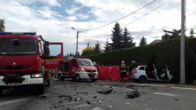 Kierowca i kilkomiesięczne dziecko zginęli! Osobówka zderzyła się z autobusem! Koszmarny wypadek w Raciborzu! (fot.Policja Śląska)