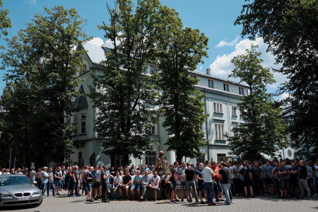 Górnicy z Brzeszcz i Libiąża mają już dość! Żądają od Tauron Wydobycie podwyżek! Protest jest coraz ostrzejszy (fot. Paweł Jędrusik)