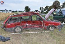 14-latek za kierownicą Passata! Niestety - skończyło się to tragicznie. W samochodowym wypadku zginęła jego 14-letnia pasażerka (fot.policja)