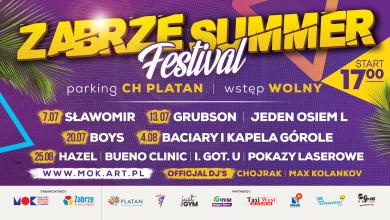 7 lipca rusza Zabrze Summer Festiwal! Na scenie Sławomir, GRUBSON i zespół BOYS!