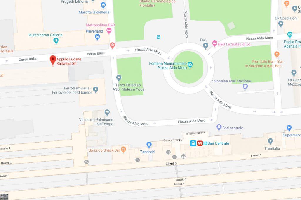 Jak dotrzeć na dworzec w Bari? Pomoże Wam mapa!
