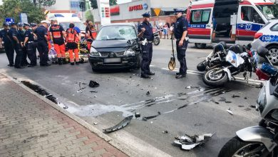 Zabezpieczał festiwal Pol'And'Rock. Policjant ranny w wypadku w Kostrzynie