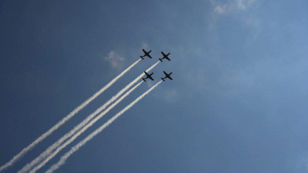 Przelot samolotów i śmigłowców na wielotysięcznej widowni zrobił ogromne wrażenie!