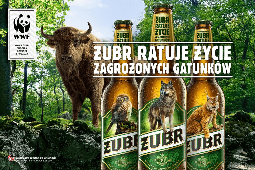 Żubr zniknie z puszek i butelek piwa, ustępując miejsca trzem gatunkom: wilkowi, rysiowi i sóweczce (fot.Kompania Piwowarska)