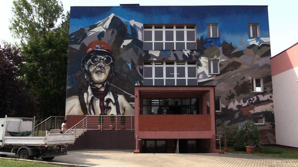 Jerzy Kukuczka ma swój mural. Powstał w Mikołowie