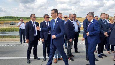 33-kilometrowy odcinek autostrady A1 z Pyrzowic do węzła Częstochowa-Południe został oddany do użytku. W uroczystości uczestniczył premier RP Mateusz Morawiecki (fot.Wojewoda Śląski/facebook)