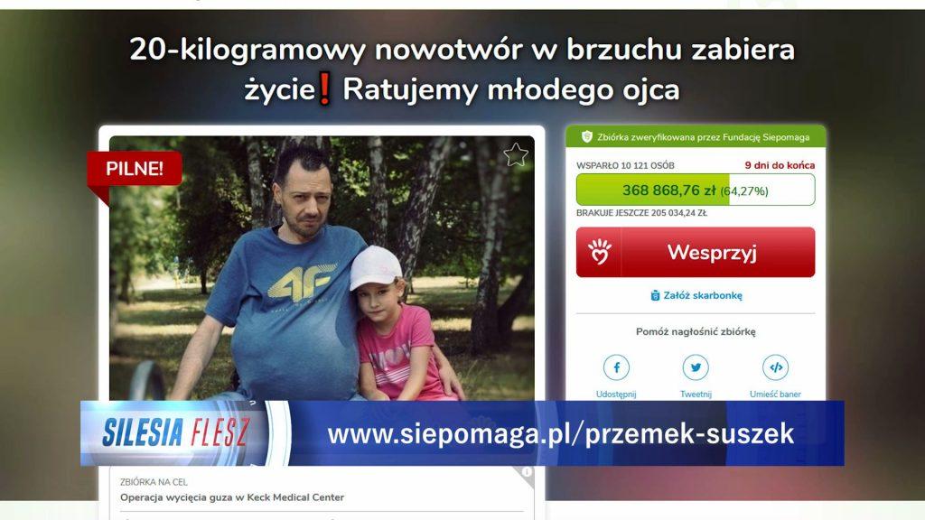 -Jestem człowiekiem, który się nie poddaje, ale nie ukrywam, że jest mi ciężko, ale guz mi bardzo doskwiera w codziennych czynnościach - mówi Przemysław Suszek, chory na nowotwór przestrzeni zaotrzewnej.