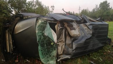 Jechali busem do pracy, jeden zginął na miejscu, ośmiu trafiło do szpitali (fot.KSP)