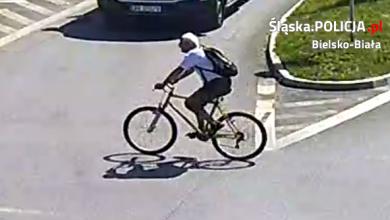 Bielsko-Biała: Rowerzysta zderzył się z pieszą i uciekł. Ktoś go zna? [FOTO] (fot.KMP Bielsko-Biała)