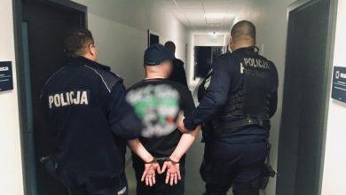 Kibol z Tychów zatrzymany. Prowokował do ataku na policjantów (fot.KMP BIelsko-Biała)