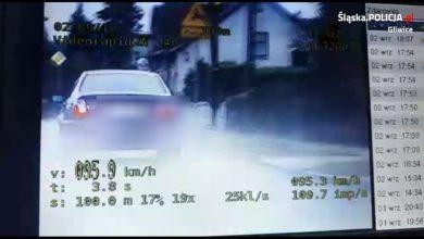 Kierowca BMW jadący w strugach deszczu pod Gliwicami na długo zapamięta wyprzedzanie na łuku drogi