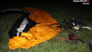 Tragiczny wypadek w Mikołowie. Nie żyje motolotniarz (fot.KPP Mikołów)