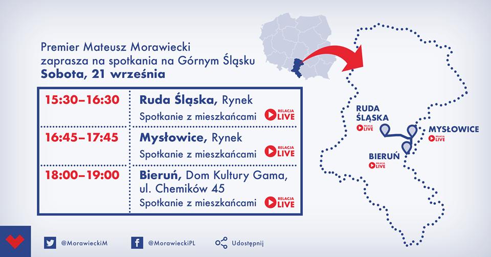 Premier Morawiecki przyjedzie do Mysłowic i Bierunia. W sobotę też konwencja PiS