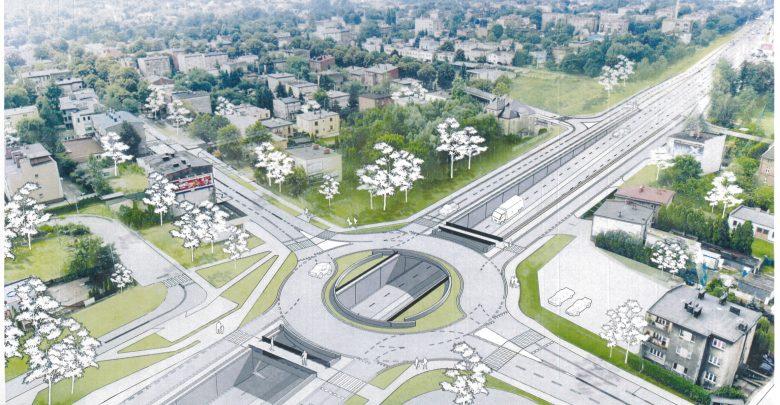 Wykop tunelu pod DK 81 w Katowicach