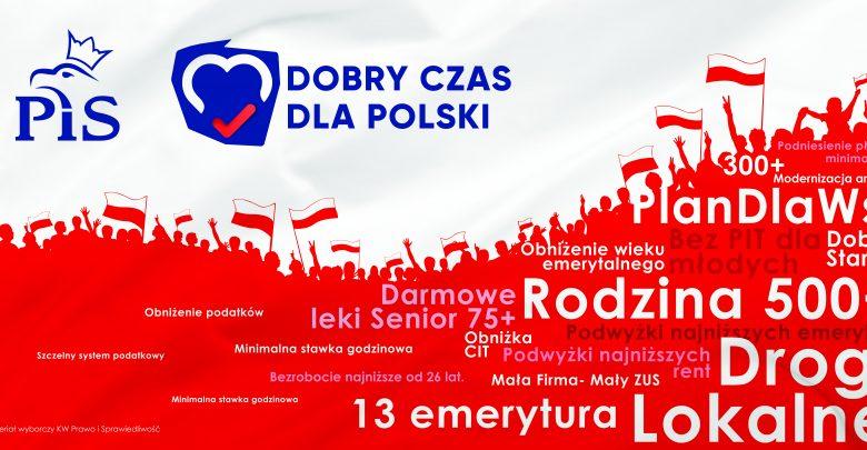 """""""Nasza wygrana, to zasługa Polaków"""". PiS dziękuje wyborcom (fot.PiS)"""