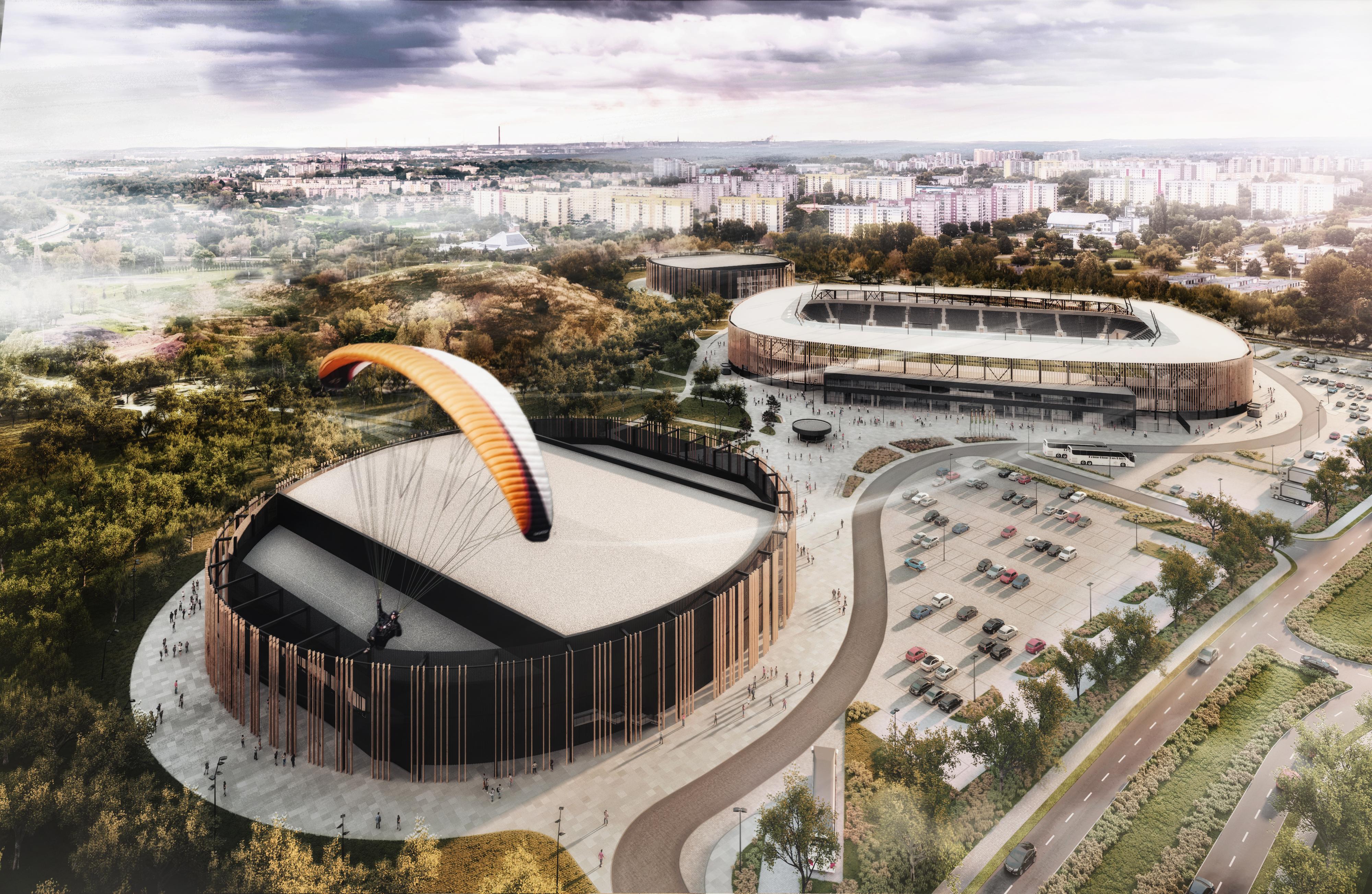 Zagłębiowski Park Sportowy rośnie w siłę. Powstaje sadion, hala sportowa i lodowisko