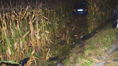 Kierowca audi podczas wyprzedzania zderzył się z motocyklistą. 16-latek nie żyje (fot.KWP Kraków)