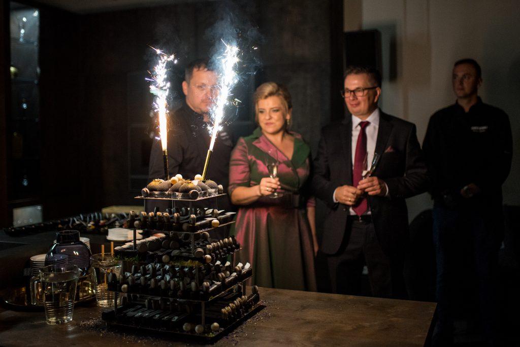 Krzysztof Kopciński - mistrz cukiernictwa marka Gaggenau, Karina i Adrian Halupczok - właściciele firmy Halupczok