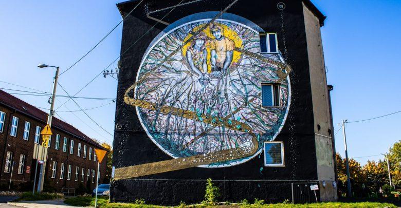 Nowy mural w Katowicach. Ma namawiać do dyskusji o hutnictwie i środowisku (fot. Muzeum Hutnictwa Cynku WALCOWNIA)