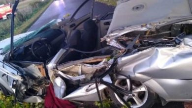 Auto zmiażdżone przez drzewo [ZDJĘCIA] Kierowca chevroleta zginął na miejscu (fot.Policja Podkarpacka)