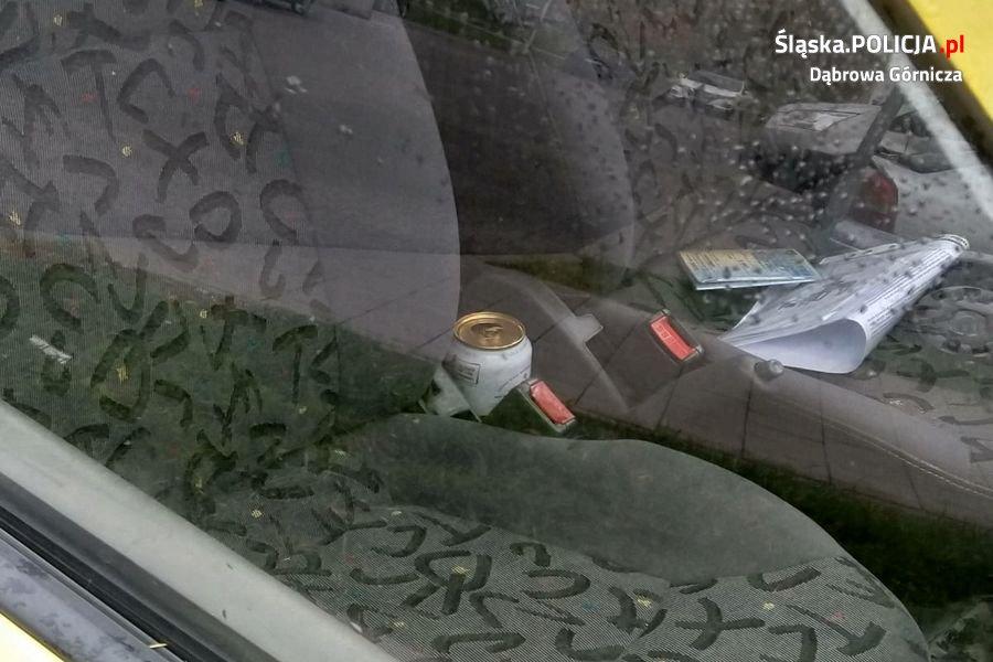 Okazało się, że 38- letni mieszkaniec Będzina jest kompletnie pijany i posiada w swoim organizmie 1,95 promila alkoholu (FOT.policja)