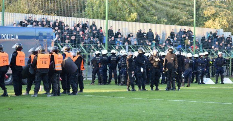 Katowice: Zadyma na meczu GKS Katowice. Kibole znowu dali znać o sobie (fot.policja)