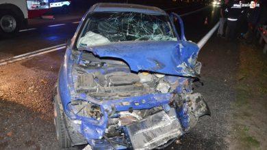 Śląskie: Zderzył się z ciężarowym volvo. Kierowca osobówki był pijany [ZDJĘCIA] (fot.KPP Zawiercie)