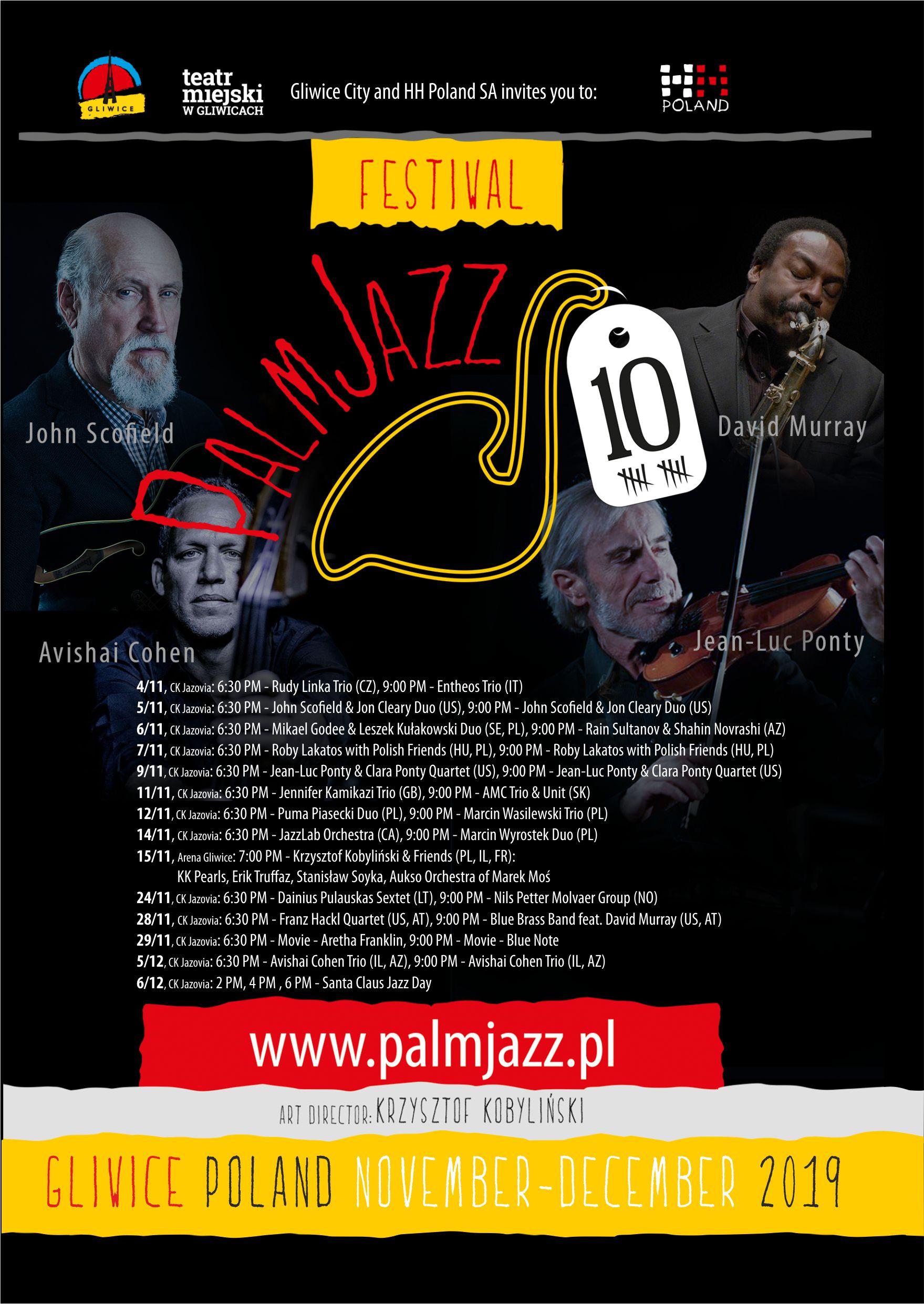Harmonogram PalmJazz Festival 2019