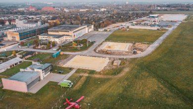 Nowa inwestycja na lotnisku. W Gliwicach powstaje Centrum Edukacji Lotniczej (fot.UM Gliwice/Mosquidron)