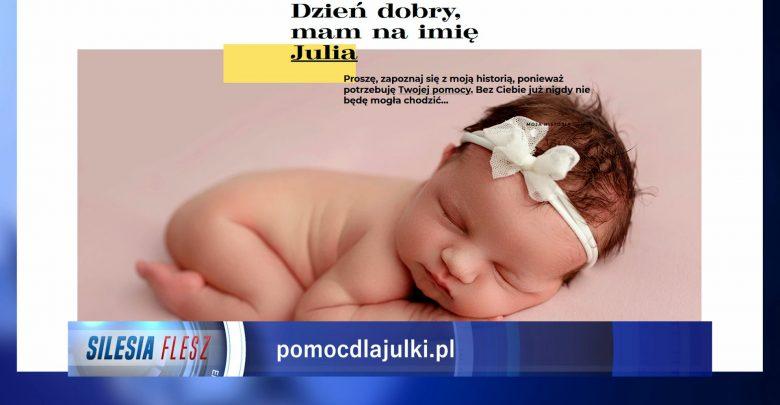[APEL O POMOC] Mała Julka urodziła się bez kości w nóżkach! Potrzebuje pilnej operacji!