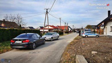 Śląskie: Policyjny pościg za 35-latkiem. Na siedzeniu pasażera jego babcia (fot.KMP Bielsko-Biała)