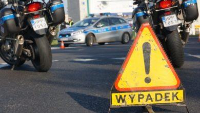 Potrącenie dwóch robotników na ul. Oświęcimskiej w Tychach (fot.KMP Tychy)