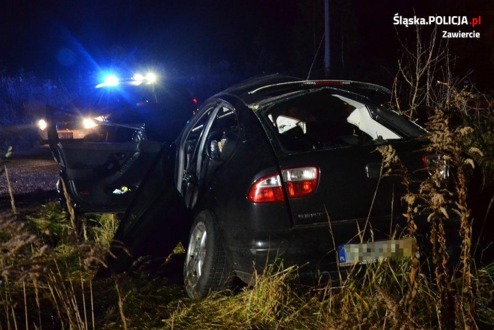 Wypadek w Zawwierciu, w którym zginęło trzech 19-latków będzie wyjaśniany przez prokuraturę (fot.policja)