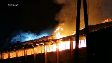 Jaworzno: Pożar hali w Byczynie. Trwa ustalanie przyczyn