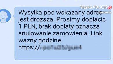 """Śląskie: """"W związku ze zmianą cennika informujemy, iż..."""". Uważajcie na takie SMSy! Mieszkaniec Zawiercia stracił kilka tysięcy złotych (fot.KPP Zawiercie)"""