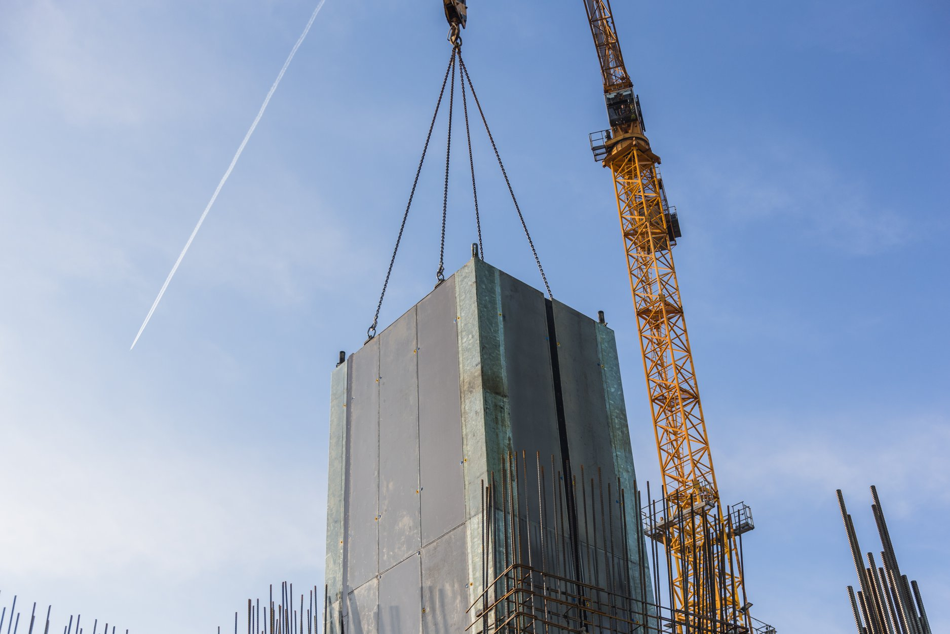KTW II w Katowicach: powstają ściany szybów windowych [ZDJĘCIA] (fot. facebook/biurowce KTW)