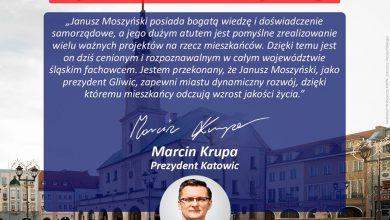Janusz Moszyński z poparciem Marcina Krupy. Wybory w Gliwicach 5 stycznia