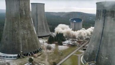Chłodnia kominowa Elektrowni Siersza runęła! Zobacz wideo
