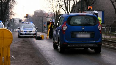Katowice: Miasto stanęło po potrąceniu kobiety na Korfantego. Zobaczcie ZDJĘCIA i WIDEO z miejsca wypadku