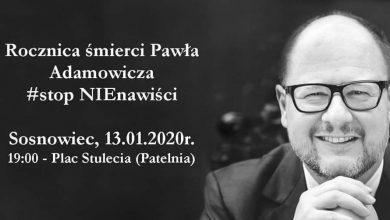 Rocznica śmierci Pawła Adamowicza. Uczniowie z Sosnowca wspomną prezydenta