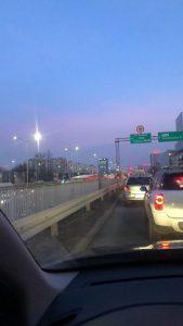 Ogromne utrudnienia napotkają kierowcy we wtorek, 14 stycznia popołudniu w Katowicach. Tworzą się ogromne korki. Tunel pod Rondem zamknięty (Marcelina Przystał-Skarżyńska)