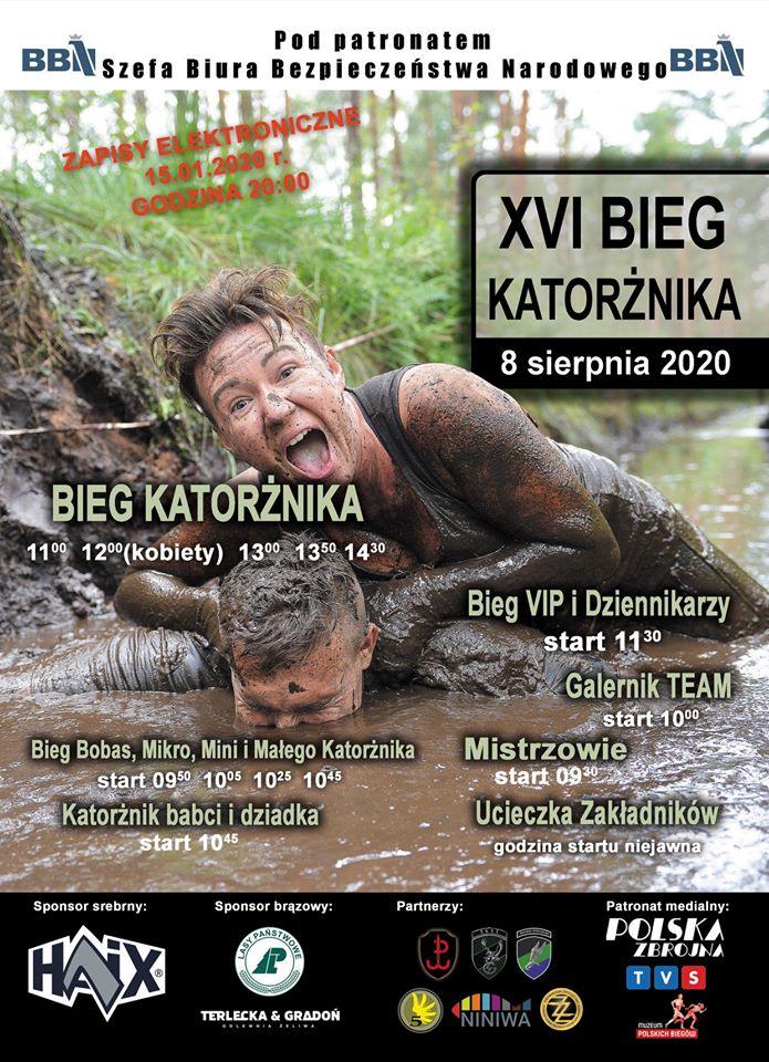 XVI edycja kultowego Biegu Katorżnika w Lublińcu w sobotę 08 sierpnia 2020 r.