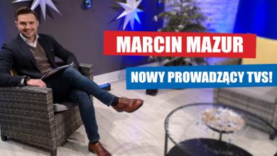 Marcin Mazur w TVS (fot. TVS)