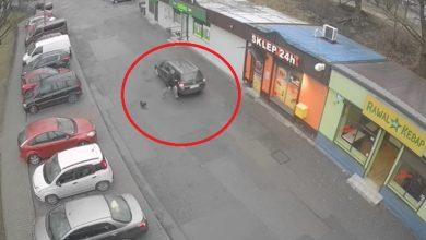 Kierowca w Rudzie Śląskiej potrącił pieszego, który zwrócił mu uwagę! foto: youtube.com/Business Control MONITORING
