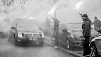 """Odszedł """"Biały Pele"""". Bytomianie pożegnali Jana Liberdę - legendarnego piłkarza Polonii Bytom (fot.UM Bytom)"""