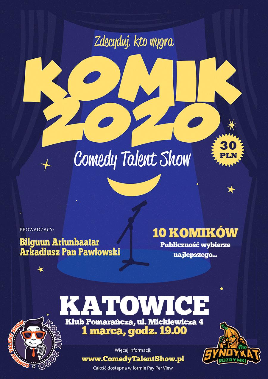 KOMIK 2020 - wybierz najlepszego komika w Katowicach