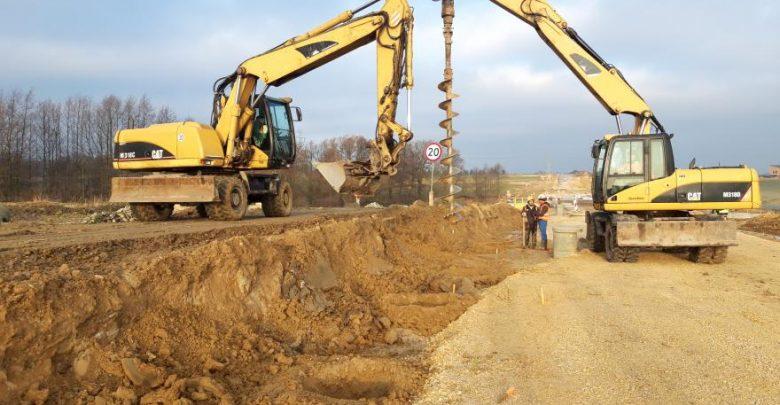Trwa budowa zachodniej obwodnicy Gliwic. Wprowadzono tymczasową organizację ruchu