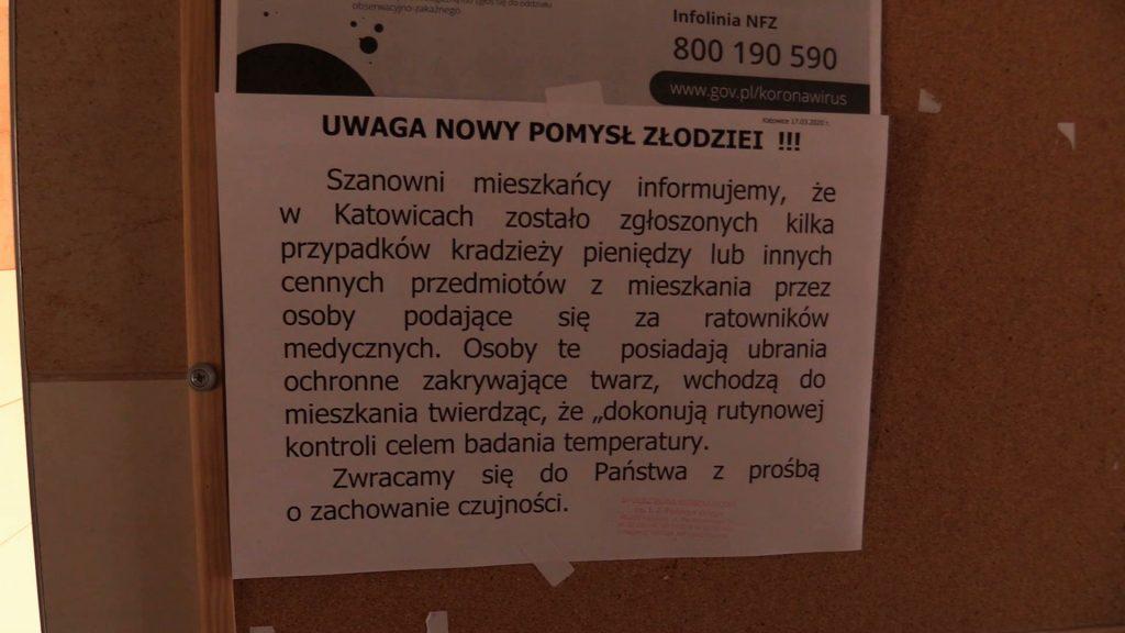 Z ogłoszenia wynika, że oszuści pod przykrywką walki z koronawirusem okradają mieszkańców. Policja ostrzega - to FAKE NEWS!