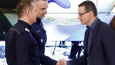 """Policjanci CBŚP udaremnili rekordowy przemy heroiny. Premier: """"to kolejny wielki sukces polskich służb"""" (fot.premier.gov.pl)"""
