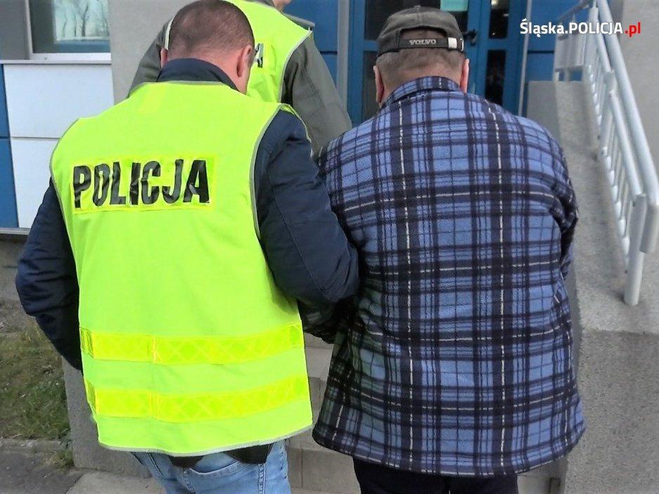 Drugi z zatrzymanych za nielegalne składowanie odpadów mężczyzn. [fot. Śląska Policja]